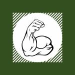 Flexed bicep representing physical development