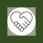 heart shaped handshake representing relational development